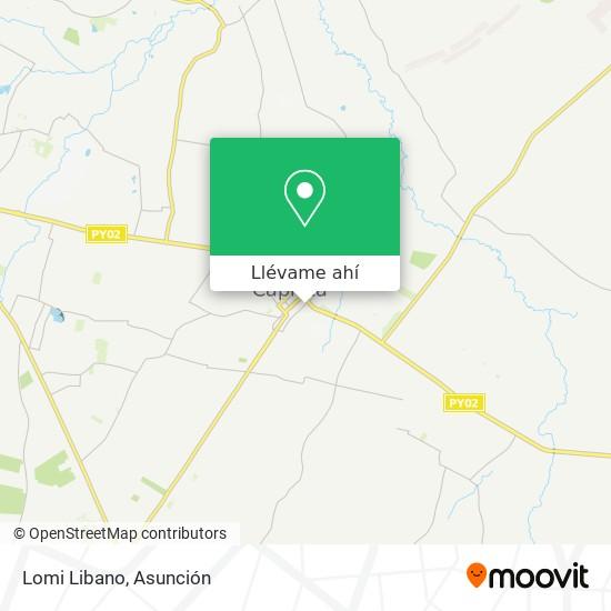 Mapa de Lomi Libano