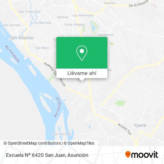 Mapa de Escuela Nº 6420 San Juan