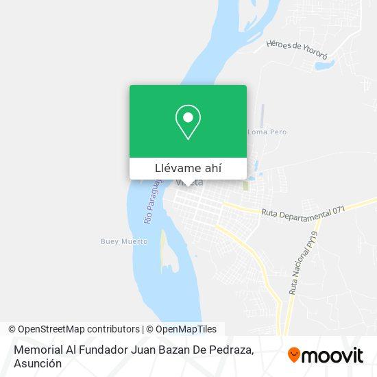 Mapa de Memorial Al Fundador Juan Bazan De Pedraza
