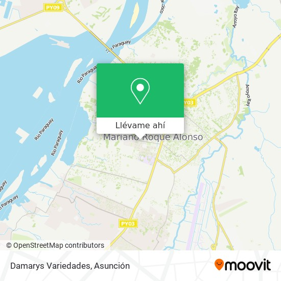 Mapa de Damarys Variedades
