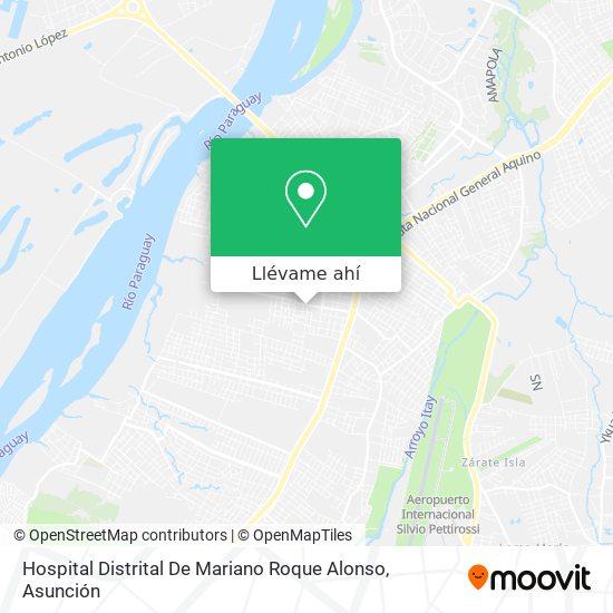 Mapa de Hospital Distrital De Mariano Roque Alonso
