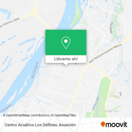 Mapa de Centro Acuático Los Delfines