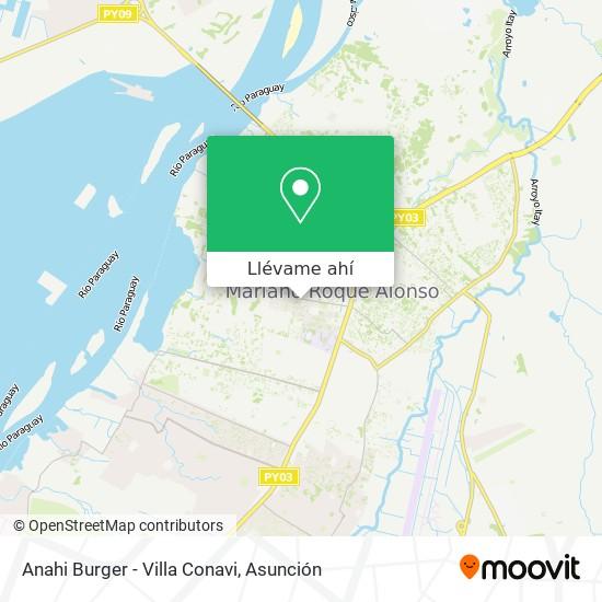 Mapa de Anahi Burger - Villa Conavi