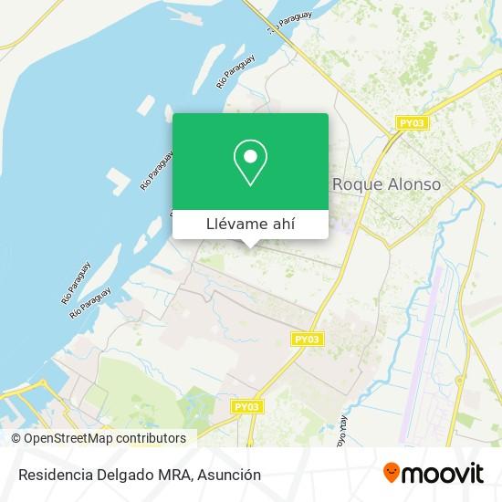 Mapa de Residencia Delgado MRA