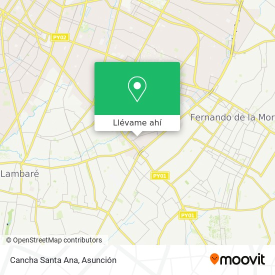 Mapa de Cancha Santa Ana