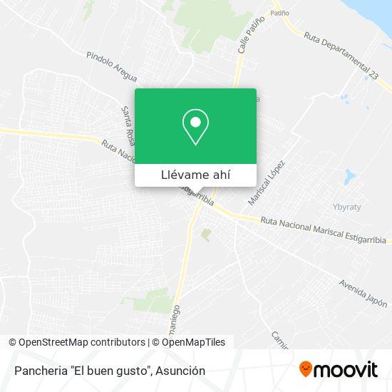 """Mapa de Pancheria """"El buen gusto"""""""