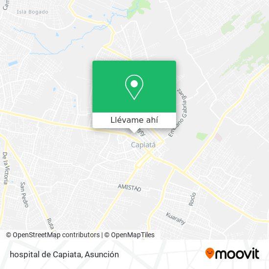 Mapa de hospital de Capiata