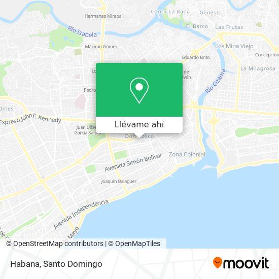 Mapa de Habana