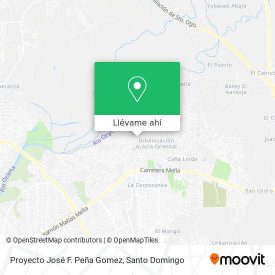 Mapa de Proyecto José F. Peña Gomez