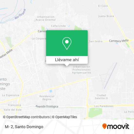 Mapa de M- 2