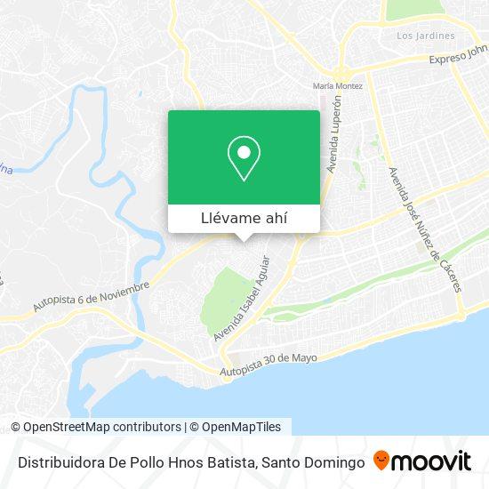 Mapa de Distribuidora De Pollo Hnos Batista