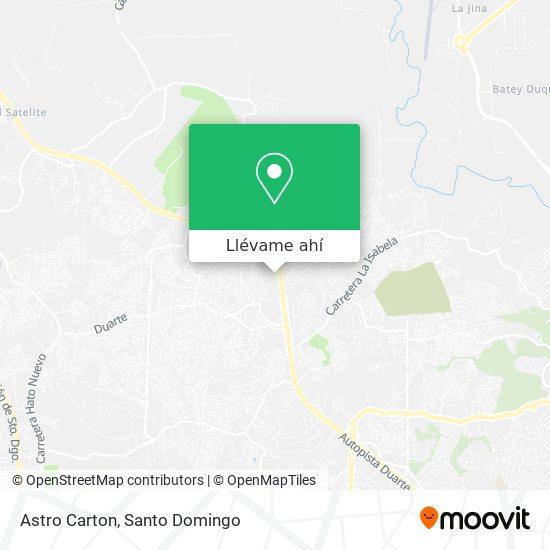Mapa de Astro Carton