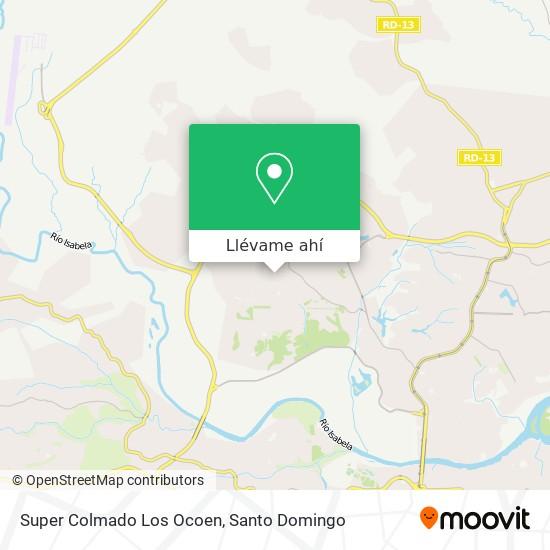 Mapa de Super Colmado Los Ocoen