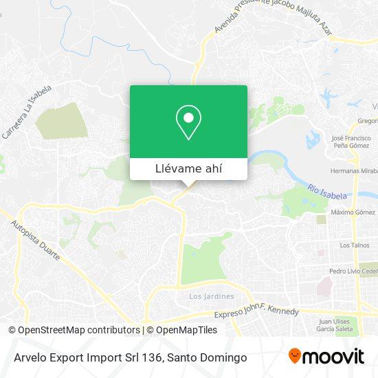 Mapa de Arvelo Export Import Srl 136