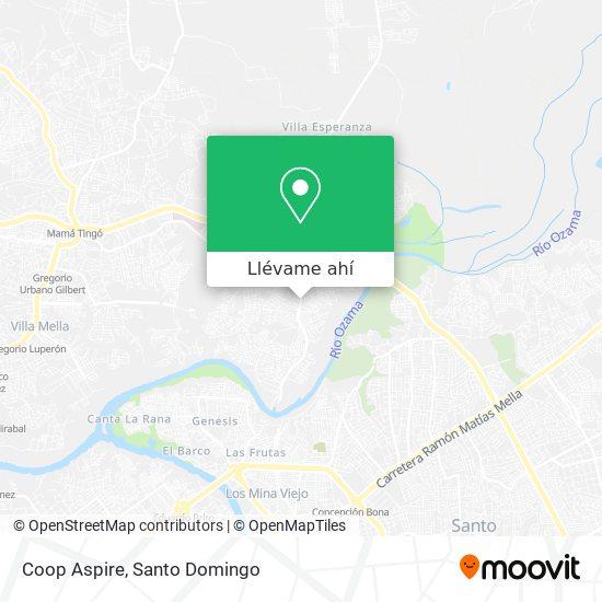 Mapa de Coop Aspire