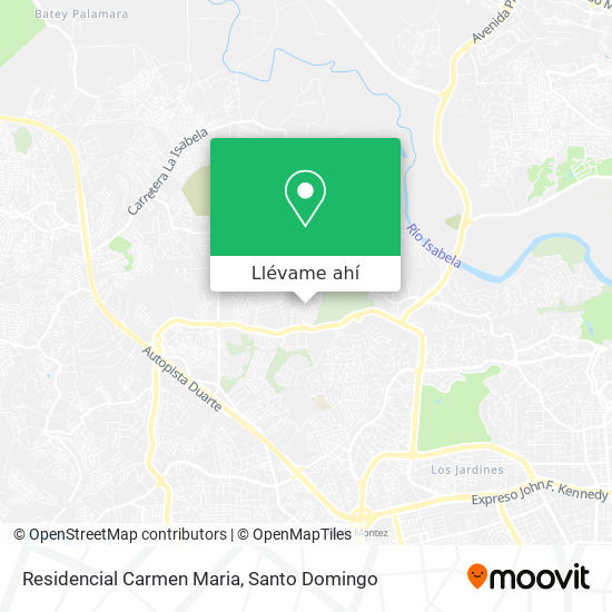 Mapa de Residencial Carmen Maria