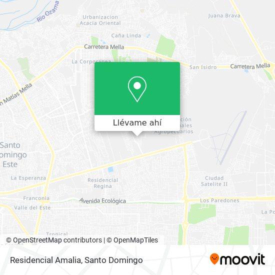 Mapa de Residencial Amalia