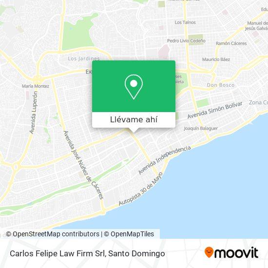 Mapa de Carlos Felipe Law Firm Srl