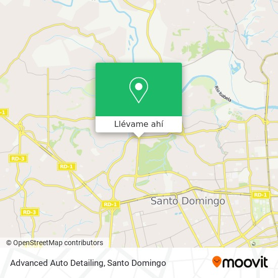 Mapa de Advanced Auto Detailing
