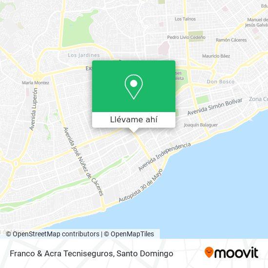 Mapa de Franco & Acra Tecniseguros