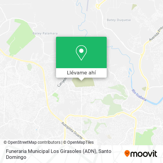 Mapa de Funeraria Municipal Los Girasoles (ADN)