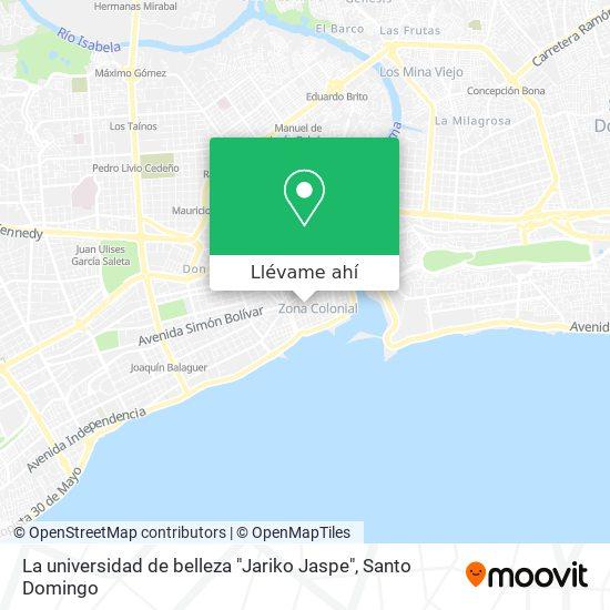 """Mapa de La universidad de belleza """"Jariko Jaspe"""""""