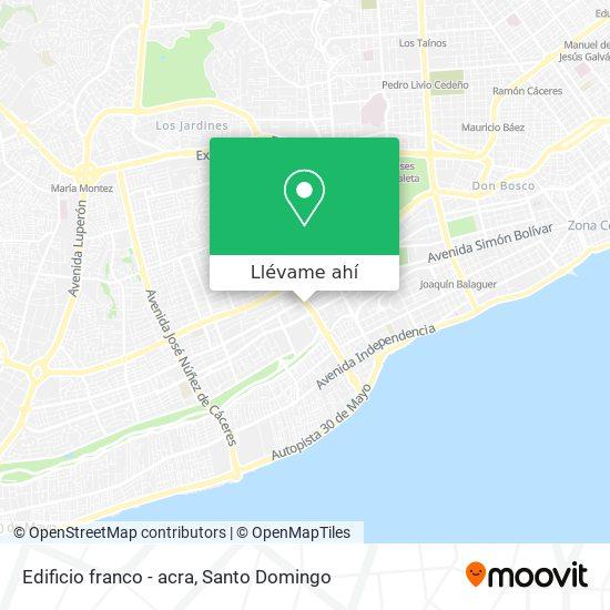 Mapa de Edificio franco - acra
