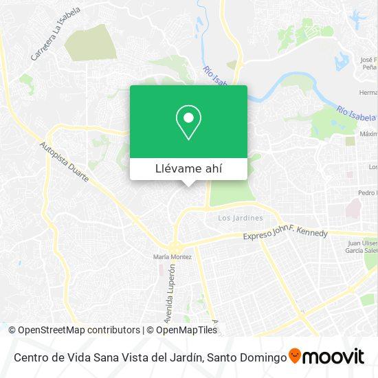 Mapa de Centro de Vida Sana Vista del Jardín
