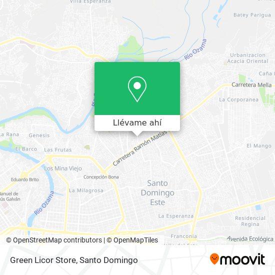 Mapa de Green Licor Store