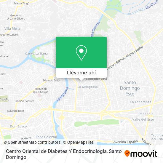 Mapa de Centro Oriental de Diabetes Y Endocrinologia