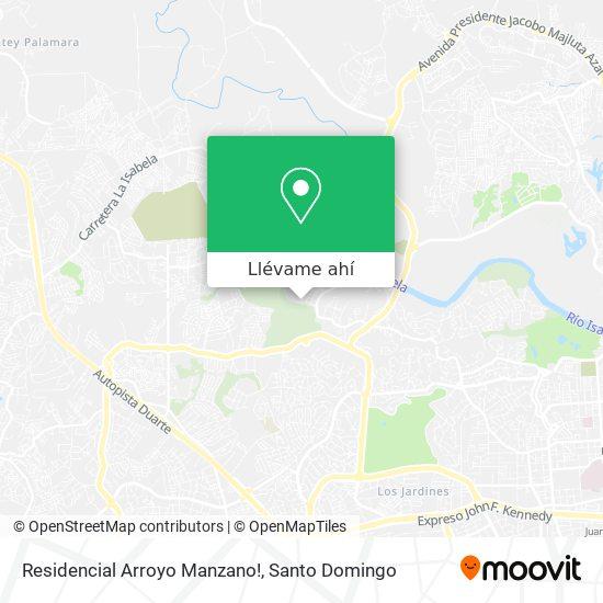 Mapa de Residencial Arroyo Manzano!