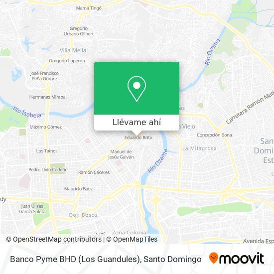 Mapa de Banco Pyme BHD (Los Guandules)