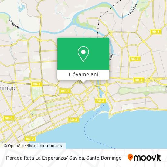 Mapa de Parada Ruta La Esperanza/ Savica