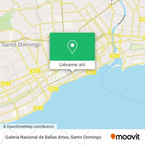 Mapa de Galería Nacional de Bellas Artes