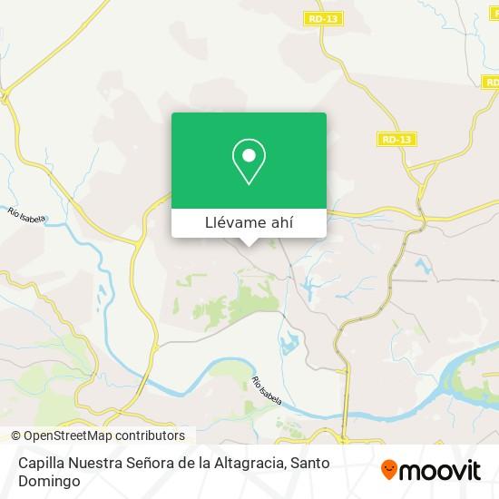Mapa de Capilla Nuestra Señora de la Altagracia