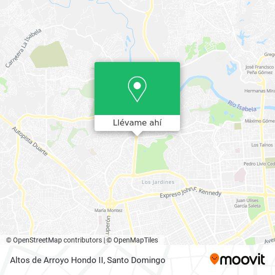 Mapa de Altos de Arroyo Hondo II