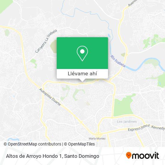 Mapa de Altos de Arroyo Hondo 1