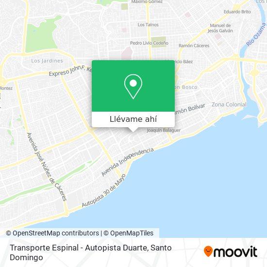 Mapa de Transporte Espinal - Autopista Duarte