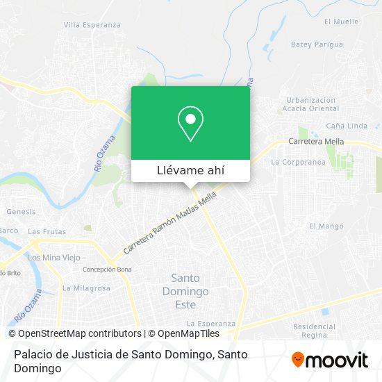 Mapa de Palacio de Justicia de Santo Domingo