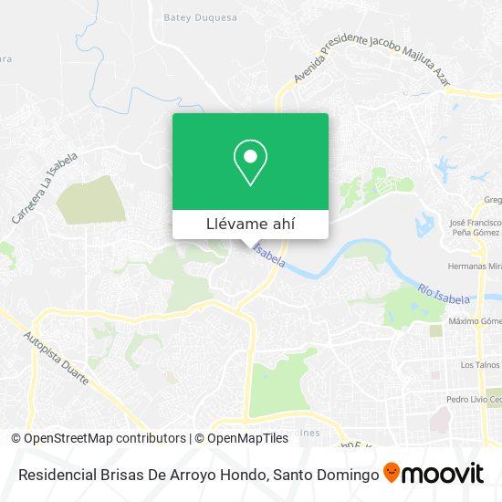 Mapa de Residencial Brisas De Arroyo Hondo