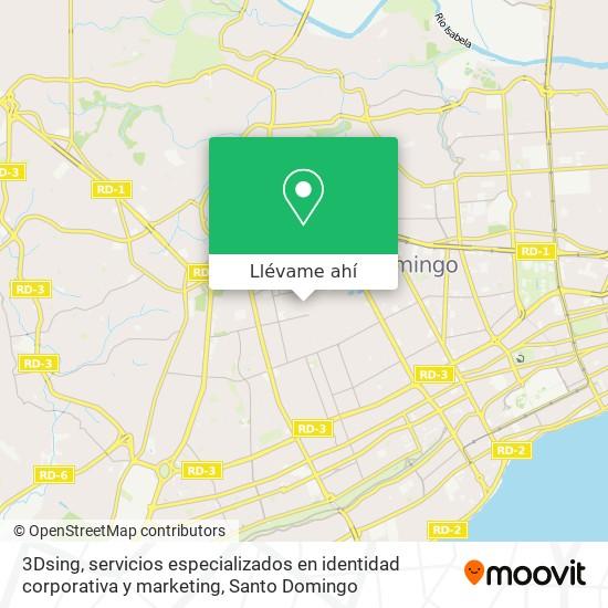Mapa de 3Dsing, servicios especializados en identidad corporativa y marketing