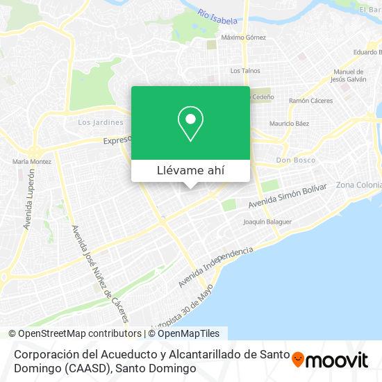 Mapa de Corporación del Acueducto y Alcantarillado de Santo Domingo (CAASD)