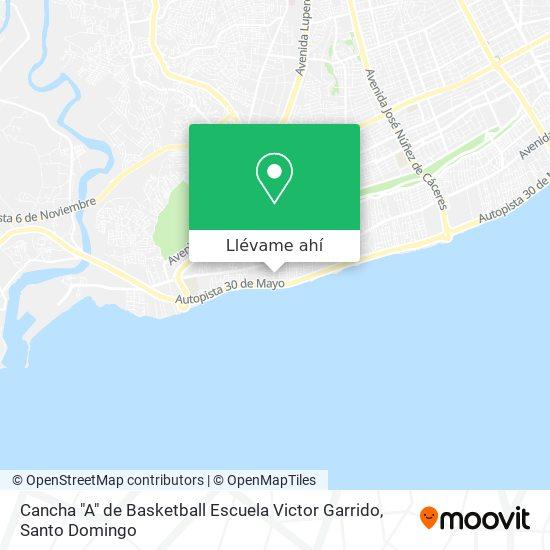 """Mapa de Cancha """"A"""" de Basketball Escuela Victor Garrido"""