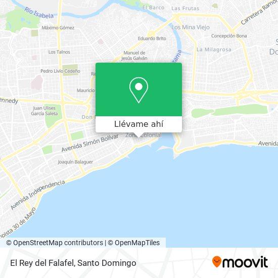 Mapa de El Rey del Falafel
