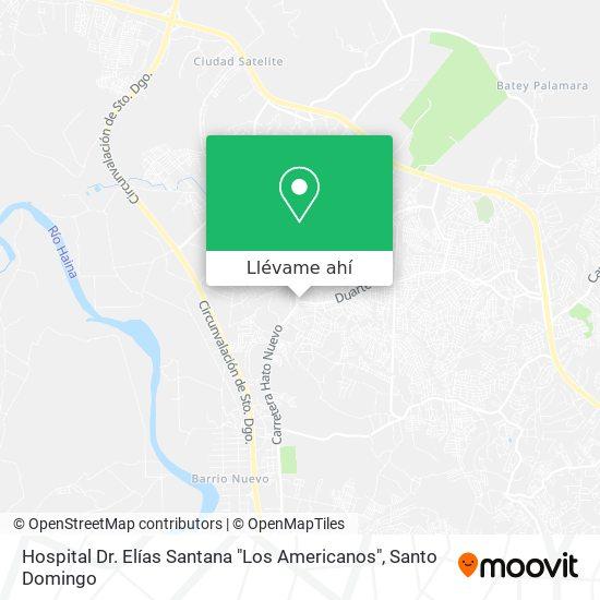 """Mapa de Hospital Dr. Elías Santana """"Los Americanos"""""""