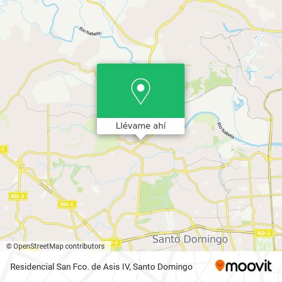 Mapa de Residencial San Fco. de Asis IV