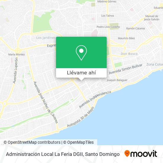 Mapa de Administración Local La Feria DGII