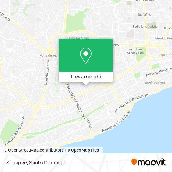 Mapa de Sonapec