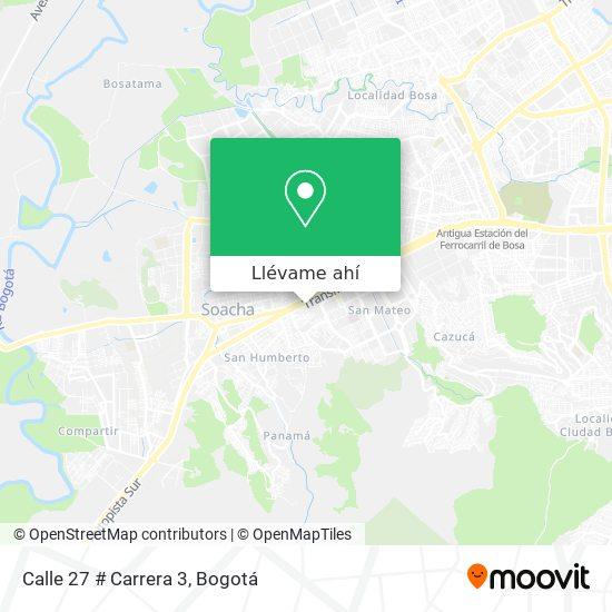 Mapa de Calle 27 # Carrera 3