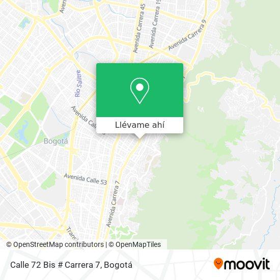 Mapa de Calle 72 Bis # Carrera 7